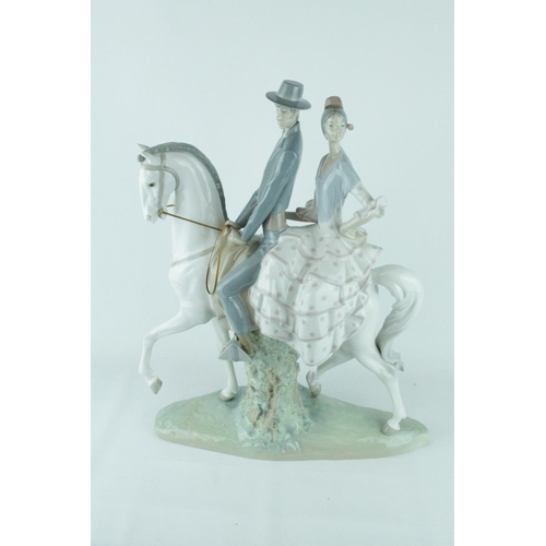 34 - Lladro 'Andalucians Group', Glazed. Sculptor: Fulgencio Garcia. Model 01004647, Introduced in 1969 a...