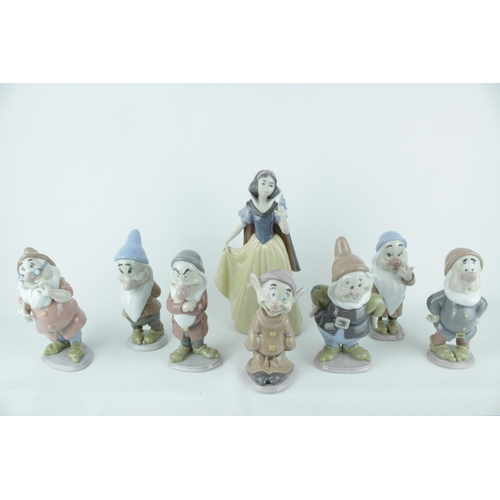 9 - Lladro 'Snow White & The Seven Dwarfs' From the Disney Collection to include Snow White Model 010075...