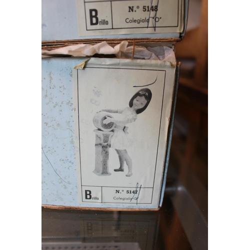 108 - Complete set of Lladro Vowels 'Schoolgirl A' Model 01005145, 'Schoolgirl E' Model 01005146, 'Schoolg...