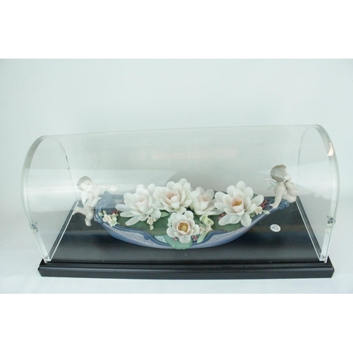31 - Lladro 'Floral Enchantment' under glass dome, Limited Edition 32 of 300, Sculptor: . Model 01011796,...