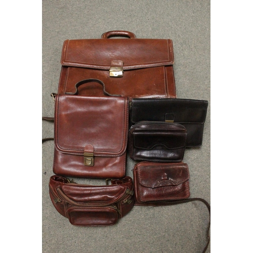 293 - Collection of assorted Good Quality Leather Bags and Satchels...