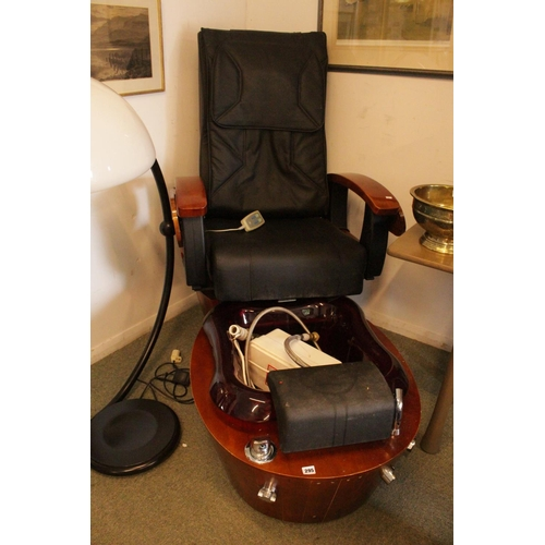 295 - Interesting 20thC Massage Manicure chair with Water Pump...