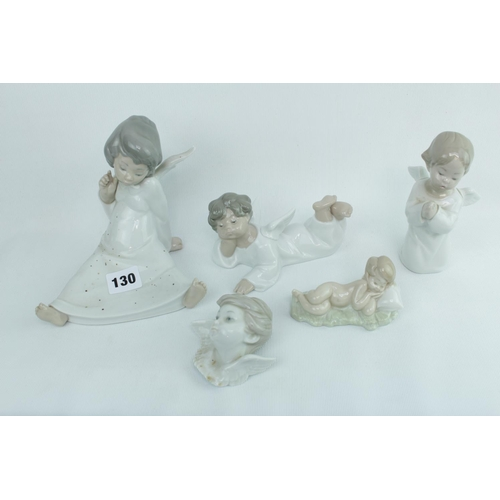 130 - 4 Lladro Angels and a Lladro Baby Jesus...