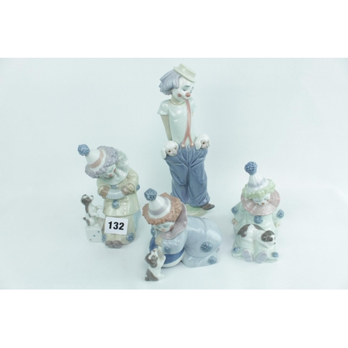132 - Collection of assorted Lladro Clowns & Pierrots...