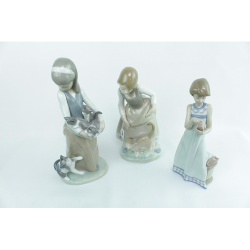 133 - 3 Lladro Figurines of Young women...