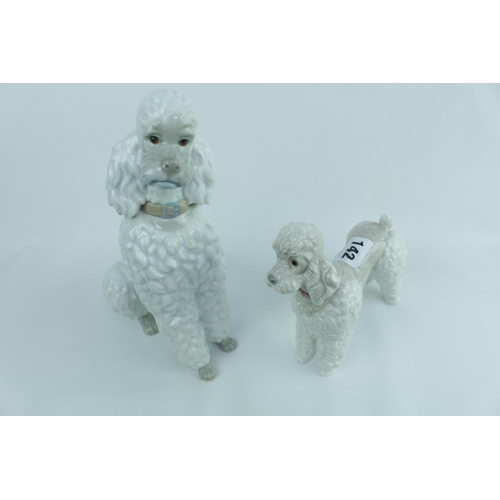 142 - 2 Lladro Figures of Poodles...