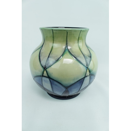 158 - Ovoid Moorcroft 'Indigo' vase by Emma Bossoms, 14.5cm in Height (914/6)...