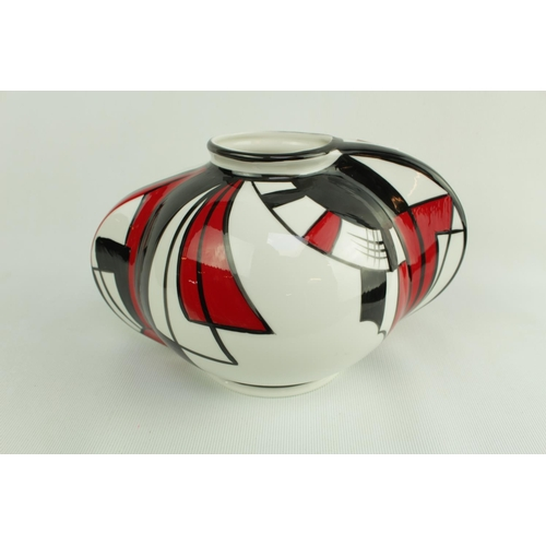 167 - Limited Edition Brian Wood Ceramic Artist Orb Vase 'Parade' 23 of 50 with certificate 11cm in Height...
