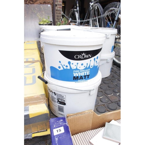 18 - 2 x 10 Litres of Crown Pure Brilliant White Emulsion...
