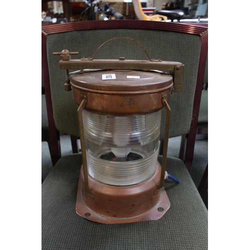 183 - All Round White Copper Ships Lantern...