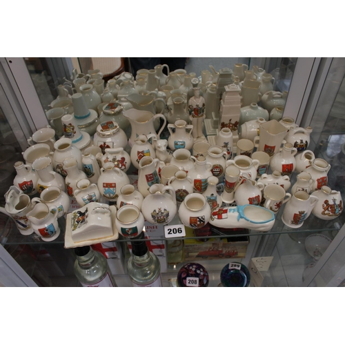 206 - Large collection of assorted Goss and other Crested ware...