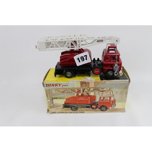 209 - Boxed Dinky Toys Jones Fleetmaster Cantilever Crane 970. Condition - Good Overall some wear to box...