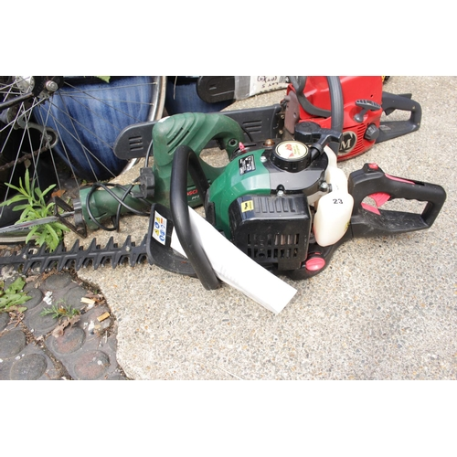 23 - Webbl 26cc Double Bladed Petrol Hedge Cutter WEHC600 & a Bosch Reciprocating Saw...