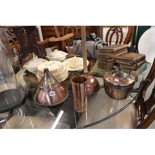 262 - Collection of assorted Edwardian and later Copperware inc. Washing Dollies etc...