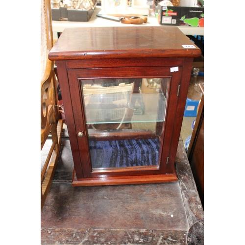 323 - 20thC Mahogany Glazed collectors cabinet...