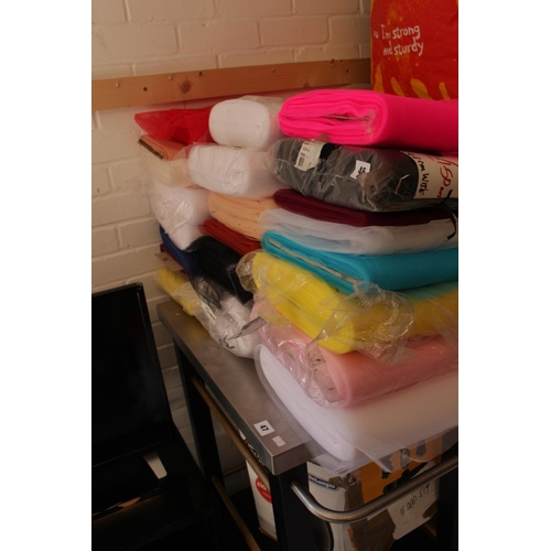 46 - Collection of assorted Reels of Fabric...
