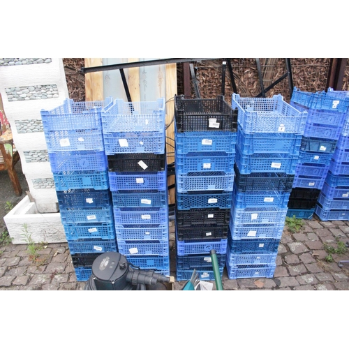 7 - 40 Plastic Crates...