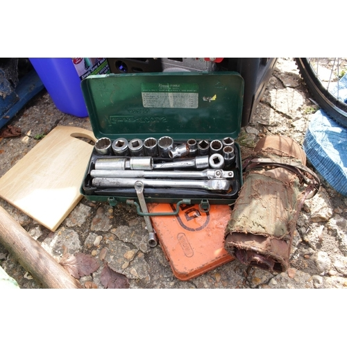 35 - Set of Kamasa Socket, Draper Sockets and a Roll of tools...