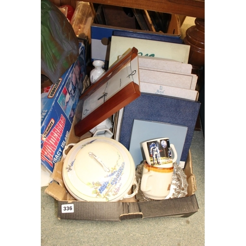336 - Box of assorted collectors plates and assorted bygones...