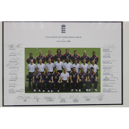 13 - Official England One Day International squad photograph from England v South Africa 2008. Personally...