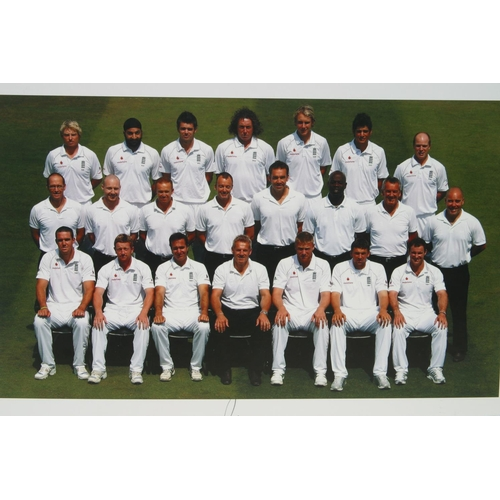 14 - Official England test team photograph from England v South Africa 2008. Personally signed by the ent...