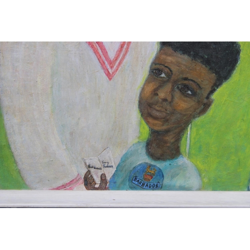 18 - G Don Smith (Exhibited Arts Council, Whitechapel Gallery, etc Original acrylic on canvas laid on boa...