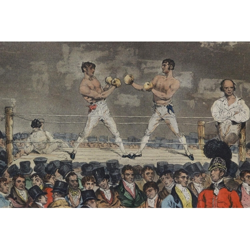 3 - The Interior of the Fives Court, with Randall and Turner Sparring. Engraved by Charles Turner after ...