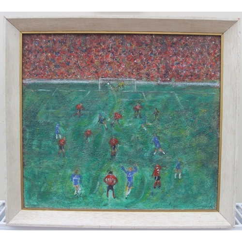 31 - G Don Smith (Exhibited Arts Council, Whitechapel Gallery, etc) Original framed acrylic Chelsea (scor...