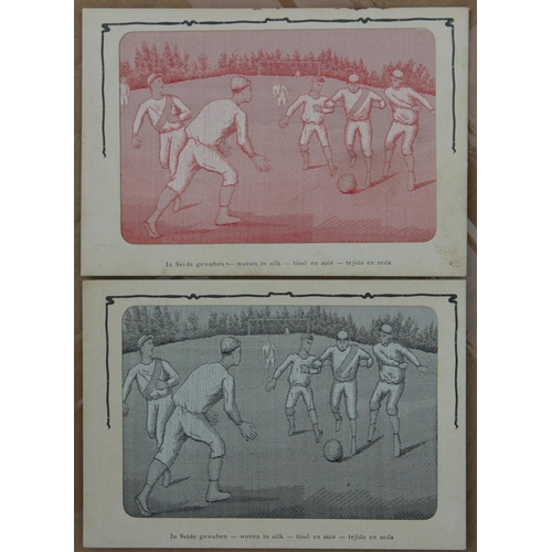 37 - RARE Football Game Postcards, pink & grey silk by JS & Co...