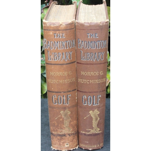 47 - The Badminton Library, Golf by Horace Hutchinson, printed in 1890, Third Edition. Dedication to insi...