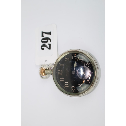 297 - Electa Invicta 50 Hour Non Luminous Mark V Pocket watch Military with Black face...