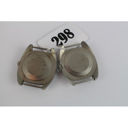 298 - 2 Hamilton Military issue wristwatches 523-8290 dated 1973 and 1975...