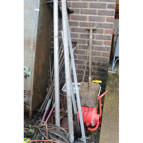 22 - Collection of assorted Tools and a Pair of Transit roof Bars...