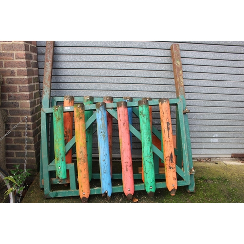 3 - Pair of Heavy Metal gates with Pencil Post decoration...