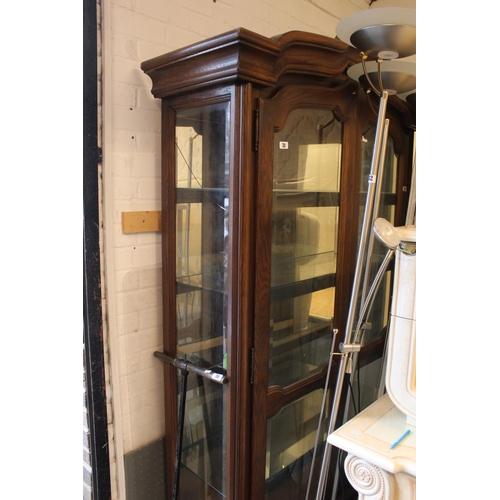 31 - Large Oak glazed China Cabinet of 3 Shelves...