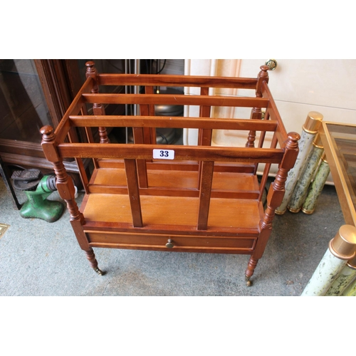 33 - Reproduction Canterbury with single drawer...