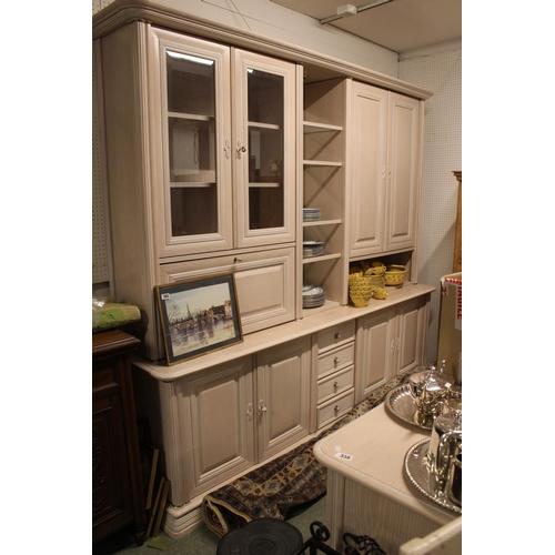 358 - NF Limed Oak veneer Long Lounge unit with matching unit...