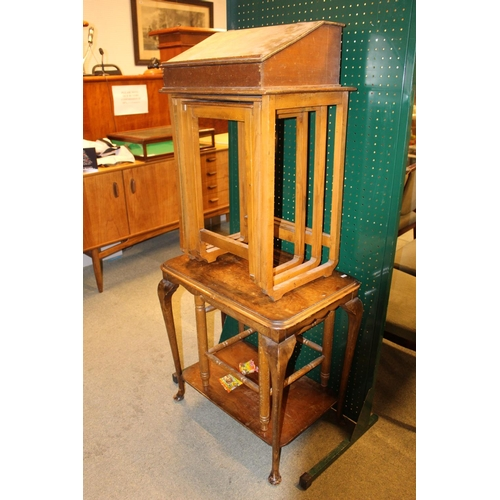367 - Collection of assorted furniture inc. Writing slope, Nest of tables etc...