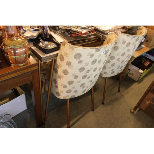 371 - Retro Melamine topped dining table with matching Chairs...