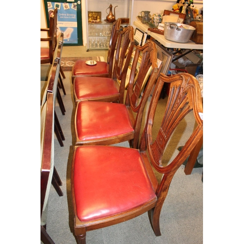 372 - Set of 5 Wheatsheaf dining chairs with drop in seats...
