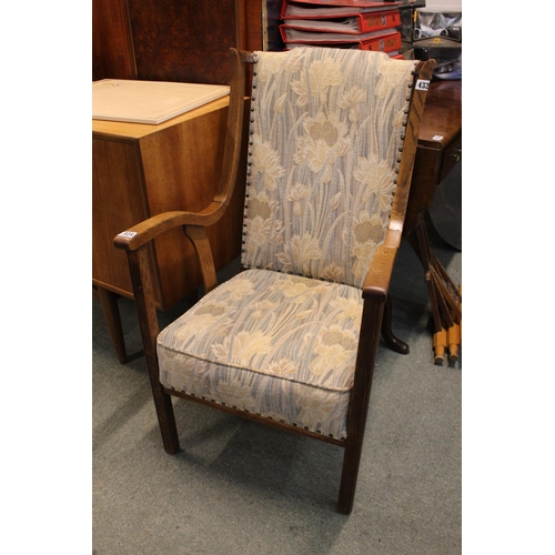 375 - Arts & Crafts Upholstered Elbow chair...