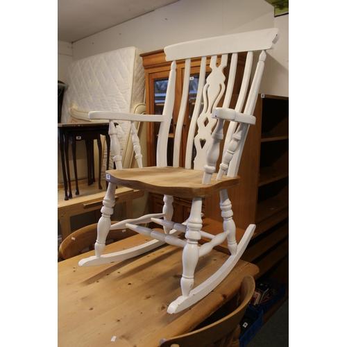 42 - Modern Rocking Windsor Elbow chair...
