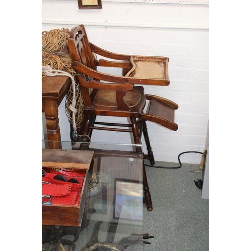 353 - Late 19thC Metamorphic Childs High Chair...