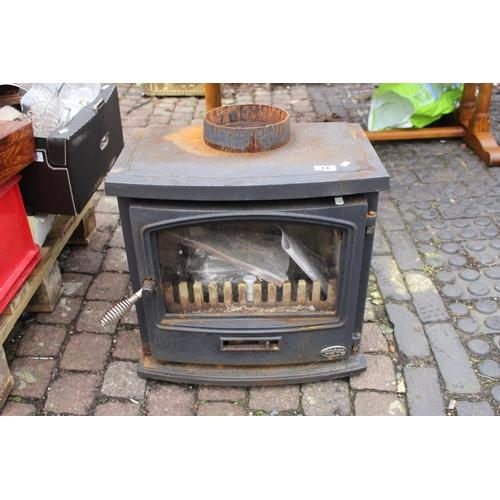 14 - Cast Iron AGA Wood burning fire...