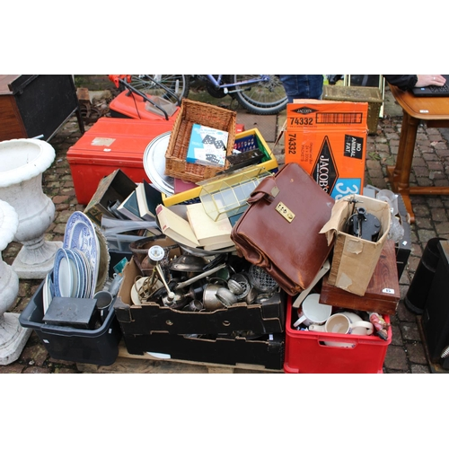 15 - Pallet of assorted House clearance Ceramics, glass and bygones...
