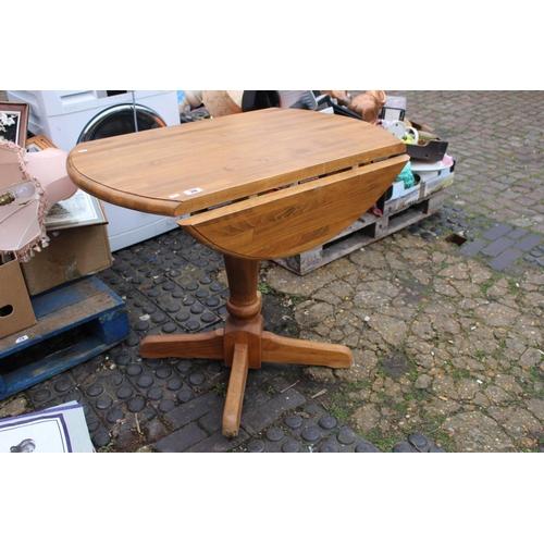 20 - Modern drop leaf kitchen table...