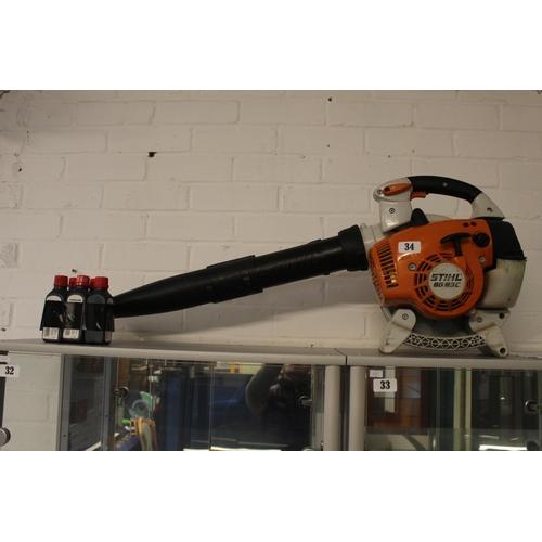 34 - Stihl BG86C Leaf Blower with Oil...