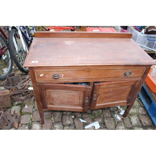 4 - Edwardian inlaid Cupboard of 2 drawers and single drawer...