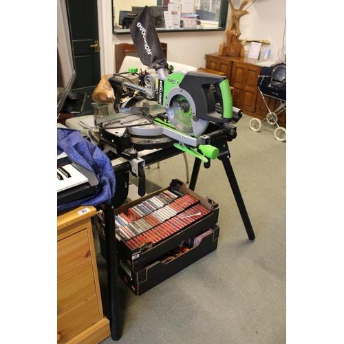46 - Evolution Power Tools FURY 3-XL Multi-Purpose Sliding Mitre Saw on stand...