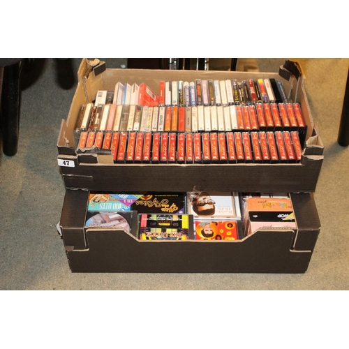 47 - Box of assorted Audio CDs and assorted Tapes inc. Rock n Roll...